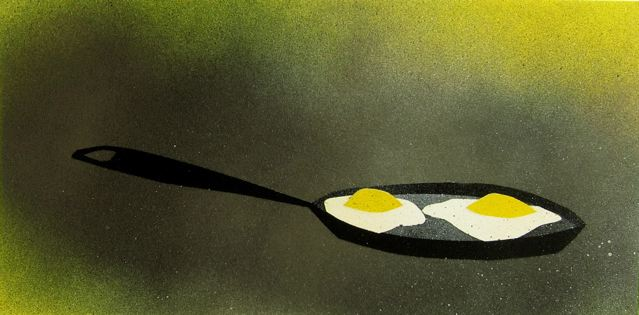 Fried eggs by Berry Holz